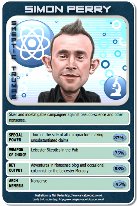 card 034 Simon Perry 467x700 Skeptic Trumps   V Science! Humor CCG